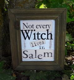 Not every WITCH lives in Salem - printable by Hudson's Holidays on ETSY $5.99