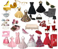 """""""1950s"""" by purplesmoothiee on Polyvore"""