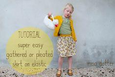 Skirt Week Guest Tutorial: Mina Dotter - crafterhours #skirt #tutorial #littlegirl