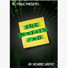 The Matrix Pad (DVD & Gimmicks) by Richard Griffin - Trick Magic Tricks Illusions, Close Up Magic, Magic Shop, Pad, Classic Toys, Sharpie, The Creator, Free Shipping, Stage