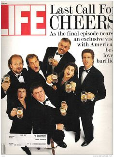 """Life Magazine Last Call for Cheers May 1993 Pull out Photo of Cast for TV show Cheers """" History Magazine, Time Magazine, Magazine Covers, News Magazines, Vintage Magazines, Cheers Tv Show, Cheers Theme, Life Cover, Time Of Your Life"""