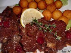 Kančí na brusinkách a červeném víně | sRecepty.CZ Pot Roast, Beef, Ethnic Recipes, Game, Carne Asada, Meat, Roast Beef, Gaming, Toy