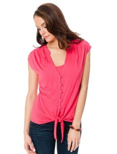 1a1d693b61bc7 A Pea in the Pod  Short Sleeve Pull Over Button Front Nursing Top A Pea