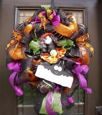 halloween mesh decorations - Google Search