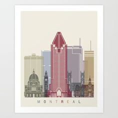 Buy Montreal skyline poster Art Print by paulrommer. Worldwide shipping available at Society6.com. Just one of millions of high quality products available.