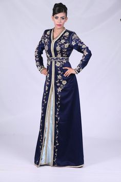 Morrocan  caftan with gold bead embroidery