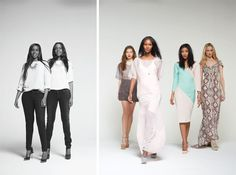 """""""We want to be successful and empower women to do the same. It's time for women to rule the world.""""  Twins-piration: Ayaan and Idyl Mohallim, the founders and identical twins behind fashion label Mataano (""""twins"""" in Somali). Designers of the easy-chic ready-to-wear line of silks and organzas launched in 2008,  the Brooklyn-based twins also signed with supermodel Iman as ambassadors for her cosmetics line. You go, girls! #LimelightApproved #TheConfidence"""