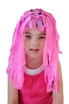Kids love silly wigs. This is a great how to by Jellyfish Jelly with lots of variations.