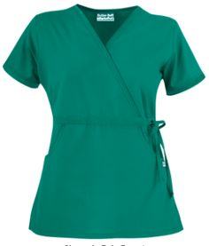 932fcf3551c Butter-Soft Scrubs by UA™ Women's Solid Mock Wrap Top with Side Tie This