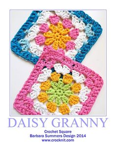 SAISY GRANNY Square ~ free pattern ᛡ