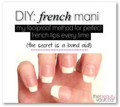 DIY: French Mani  AAAAAAAAAHHHH (That isn't screaming, that is the sound of angels rejoicing!!)
