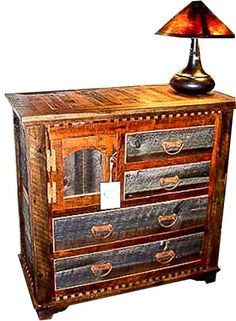 Rustic Reclaimed Wood Half Dresser Country Roads Collection