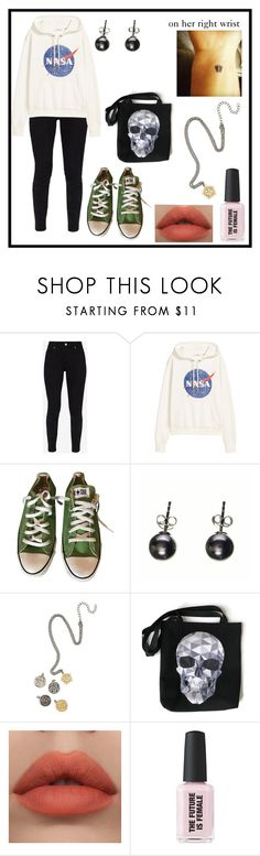 """""""Peace"""" by eammelanson ❤ liked on Polyvore featuring Ted Baker, Converse, Black and Hot Topic"""