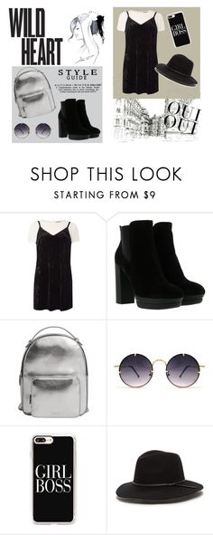 """""""black and white"""" by ivana315 ❤ liked on Polyvore featuring Dorothy Perkins, Hogan, MANGO, Spitfire, Casetify, Oui and GE"""