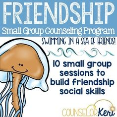 This low-prep 10-session friendship social skills elementary school counseling small group counseling program aims to empower students to maintain positive friendships by teaching key friendship social skills such as conversation skills, listening skills, playing fair, accepting others, conflict resolution, and more! What's included: This curriculum includes student self-assessments, teacher