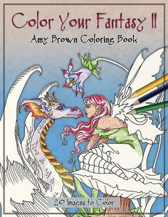 NEW Coloring Book 5 Fairy Fantasy By Amy Brown AmyBrownArt