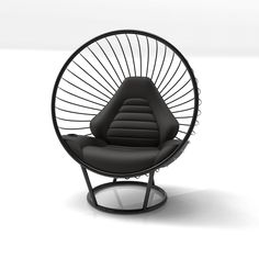 Black Bubble Chair with Black Fabric Sports Car Cushion by Ben Rousseau Bubble Chair, Cushion Fabric, Automotive Design, Texture Art, Black Fabric, Modern Interior, Bubbles, Cushions, Car