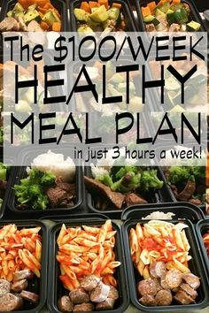 How to Make 74 Healthy Freezer Meals at Home in 3 Hours. We were looking for a cheap easy healthy meal plan and this was so much better than I could have hoped for. We spent 6 hours last week and made two weeks worth of meals and we're halfway through them. I lost 5 pounds, wasn't hungry but more importantly, meals became so easy! Hubby grabs a container out the door and throws his container out at work, At dinner, we heat and eat- ready to roll in 6 minutes! This was the best idea ever!