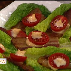 Clinton Kelly's Romaine Heart BLT.    This makes me wanna throw a cocktail party just so I can serve these
