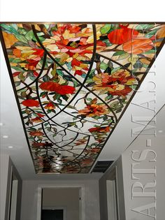 Stained glass in the hallway! Beautiful!