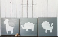 nursery animal wall art- I love this idea for down the road when we have more space and have an extra room to decorate for our little man!!!!