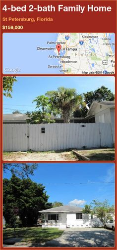 4-bed 2-bath Family Home in St Petersburg, Florida ►$159,000 #PropertyForSale #RealEstate #Florida http://florida-magic.com/properties/81598-family-home-for-sale-in-st-petersburg-florida-with-4-bedroom-2-bathroom
