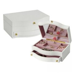 Seya Small White Musical Children's Jewelry Box W/ Ballerina - MPM-213