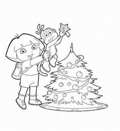 59 Best Dora The Explorer Images On Pinterest Coloring Pages