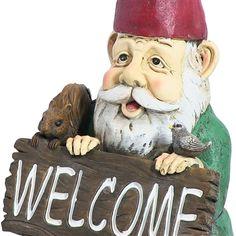 """William the Welcome Gnome, 14"""" by Sunnydaze Decor. #gnome #gardengnome #lawngnome"""