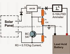 The post explains a simple solar battery charger circuit using the IC which can be built and installed by even a layman for achieving the intended. Solar Panel Kits, Solar Energy Panels, Best Solar Panels, Battery Charger Circuit, Solar Charger, Solar Projects, Circuit Projects, Solar Roof Tiles, Solar Panel Installation