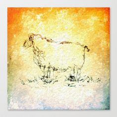 Draw me a sheep Stretched Canvas by Escrevendo e Semeando - $85.00