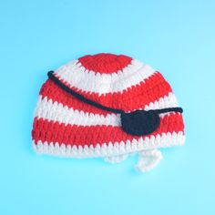 Newborn Pirate Hat Eye Patch and Pants Set Infant Baby Crochet Photography Prop Set Knitted Costume 1set MZS 15068-in Hats & Caps from Mother & Kids on Aliexpress.com | Alibaba Group