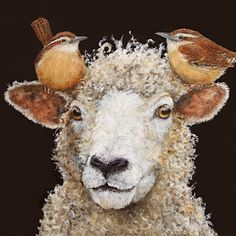 Check out all of the amazing designs that Vicki Sawyer® has created for your Zazzle products. Make one-of-a-kind gifts with these designs! Sheep Paintings, Animal Paintings, Mini Paintings, Sheep Art, Kobold, Cottage Art, Sheep And Lamb, Cute Images, Whimsical Art