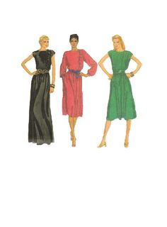 Retro 80s Evening Gown Cocktail Dress by AdeleBeeAnnPatterns, $7.50. I love the black dress!
