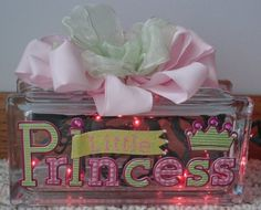 Princess glass block night light