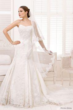 divina sposa wedding dresses 2013 bridal strapless lace gown