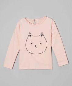 Leighton Alexander White Cat Tee - Infant, Toddler & Girls |