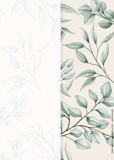 Free Printable Birthday Invitations, Poster Background Design, Rustic Background, Invitation Design, Greenery, Abstract Art, Watercolor Invitations, Islam, Wedding