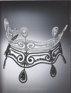 chaumet diamond tiara 1911 . sotheby's . diamondsandrhubarb.blogspot.com