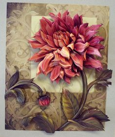 Papertole: Turn those flat paper images into stunning ceramic artwork! Clay Wall Art, 3d Wall Art, Mural Art, Clay Art, Art Floral, Floral Prints, Sculpture Painting, 3d Painting, Plaster Art