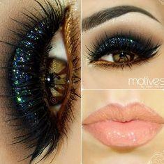 Black Glittery Eyeshadow Look - Share your looks on bellashoot.com