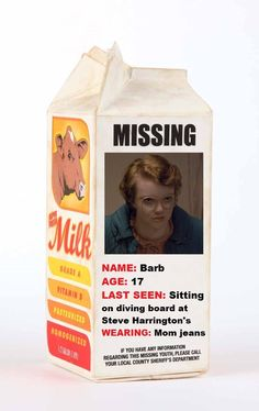 Stranger Things fun - Barb on a milk carton