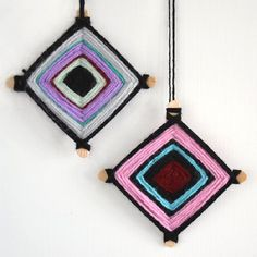 Break out your yarn scrap and a couple of popsicle sticks and make these pretty, colorful mandala ornaments. A perfect activity for kids!