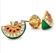 Juicy Couture Watermelon Studs(: