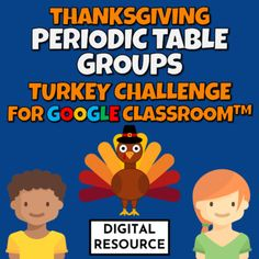 Thanksgiving turkey-themed periodic table groups and periods digital interactive Google Slides game for Google Classroom, Distance Learning.The students go to the first slide and use the present mode. Problems are solved by clicking on the element that matches the given clue. A correct answer gives ... Slide Games, Thanksgiving Turkey, Google Classroom, Counting, Distance, Periodic Table, Students, Atoms, Learning