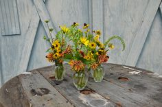 Florida native wildflowers, floral centerpieces.