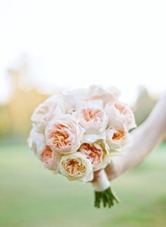 Peach florals bouquet.