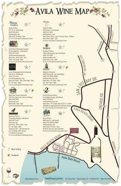 Avila Beach Wine Map- oh yeah! (Jen, you've put my mother-in-law to shame with your thoroughness!)