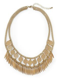 Hive & Honey Feather And Circle Necklace | Reg. $34, Sale $19.99 | Easy to wear statement necklace.  Good length too.