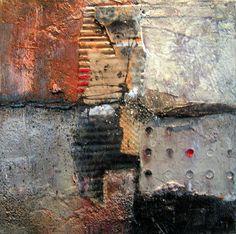 Gerard Brok - Z.T.092 acrylic, paper, paste 30 x 30 x 4cm
